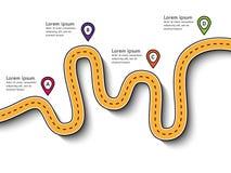 Поездка и путешествие направляют infographic шаблон с указателем штыря Стоковое Изображение