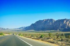 Поездка через пустыню, Лас-Вегас, Неваду Стоковое фото RF
