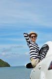 Поездки на выходные женщины счастливые Стоковая Фотография RF