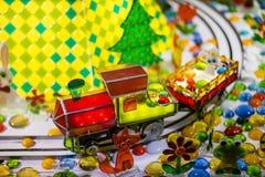 Поезд конфеты Земля конфеты Стоковые Фото