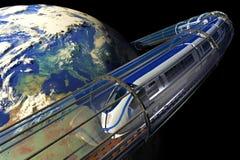 поезд космоса Стоковые Изображения