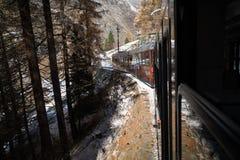 Поезд к Маттерхорну Стоковое Фото