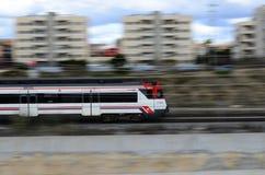 Поезд к съемке укладки в форме Барселоны Стоковое фото RF