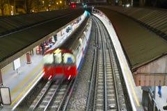 Поезд Лондона подземный Стоковое фото RF