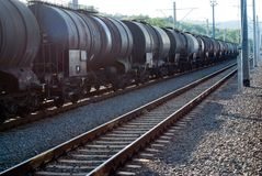 Поезд масла Стоковое фото RF