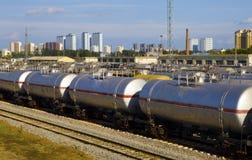 Поезд масляного бака Стоковые Изображения RF