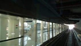 Поезд метро Дубай акции видеоматериалы