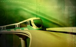 поезд метро Стоковое Фото