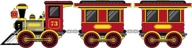 Поезд милого шаржа западный Стоковая Фотография