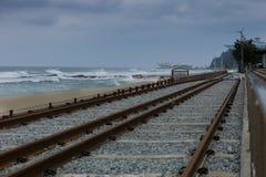 Поезд моря, Корея Стоковые Изображения RF