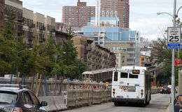 Поезд на Бродвей Нью-Йорке США Стоковые Изображения RF