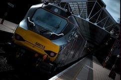 Поезд на железной дороге Staion Лондона Marylebone Стоковые Изображения RF