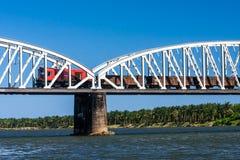 Поезд на мосте Стоковая Фотография