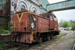 Поезд на следах в России Стоковая Фотография