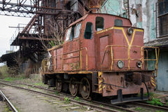 Поезд на следах в России Стоковое фото RF