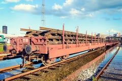 Поезд на следе стоковое изображение rf