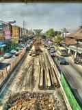 Поезд неба Бангкока Стоковая Фотография