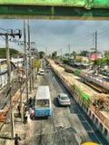 Поезд неба Бангкока Стоковое Фото