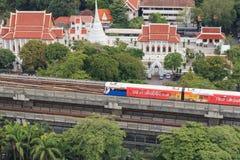 Поезд неба на Бангкоке Таиланде Стоковое фото RF