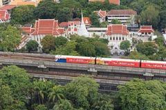 Поезд неба на Бангкоке Таиланде Стоковое Фото