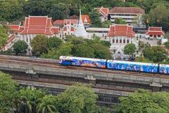 Поезд неба на Бангкоке Таиланде Стоковые Фотографии RF