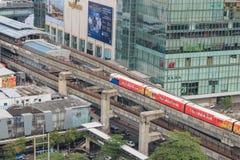 Поезд неба на Бангкоке Таиланде Стоковые Фото