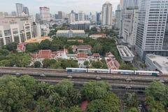 Поезд неба на Бангкоке Таиланде Стоковое Изображение