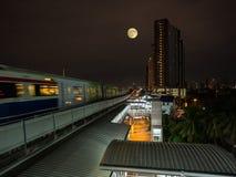 Поезд неба Стоковая Фотография