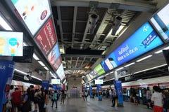 Поезд неба BTS в Таиланде Стоковые Фото