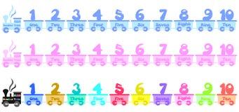 Поезд номера детей Стоковые Фотографии RF
