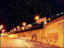 Поезд ночи Стоковые Изображения RF