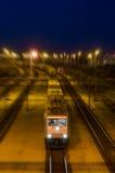 Поезд ночи стоковое изображение