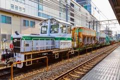 Поезд обслуживания следа ` s компании железнодорожных перевозок Японии Стоковые Изображения