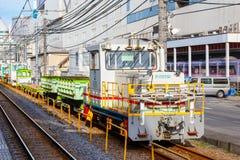 Поезд обслуживания следа ` s компании железнодорожных перевозок Японии Стоковые Фотографии RF
