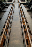 Поезд отслеживает реку Kwai Стоковое Изображение RF