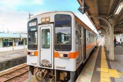Поезд от станции Taki к городу Ise, префектуре Mie Стоковая Фотография RF