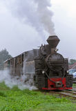 Поезд пара старого времени Mocanita винтажный Стоковое фото RF