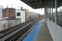 поезд платформы chicago Стоковое Фото