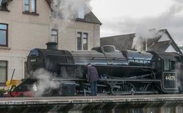 Поезд потока Jacobite Стоковые Изображения RF