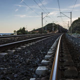 Поезд рельса Стоковые Фотографии RF
