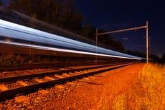 Поезд светов moving стоковые изображения rf