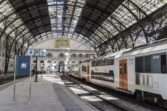 поезд станции barcelona Стоковые Изображения