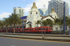 поезд станции diego san Стоковое фото RF