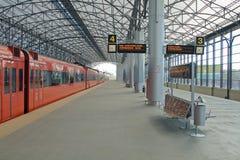 поезд станции sheremetyevo moscom Стоковое Изображение