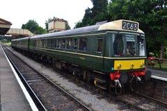 Поезд старого стиля тепловозный Стоковая Фотография