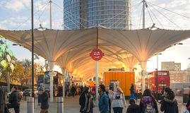 Поезд Стратфорда международные и станция метро, Лондон Стоковая Фотография