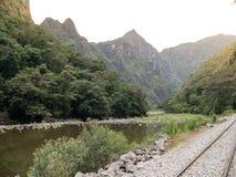 Поезд следа inca, picchu machu, Перу Стоковое фото RF