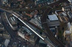 Поезд центра города Лондона Стоковые Изображения