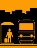 поезд человека предпосылки урбанский Стоковые Изображения