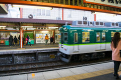 Поезд через Киото Стоковое Изображение RF